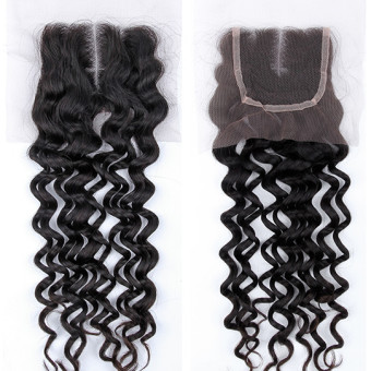 Virgin Hair Lace Closure Island Curl